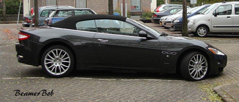 Maserati GranCabrio zijkant