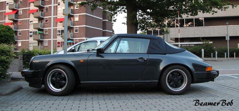 Porsche 911 Carrera 3.2 Cabriolet zijkant
