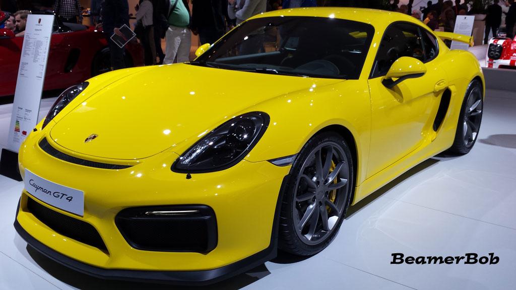 Porsche Cayman GT4 yellow